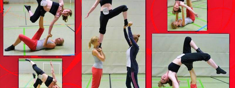 Foto: Stommaträgerin zeigt beim Showtanz-Training ihren Beutel am Bauch
