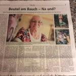 Pressebericht: Beutel am Bauch - na und?